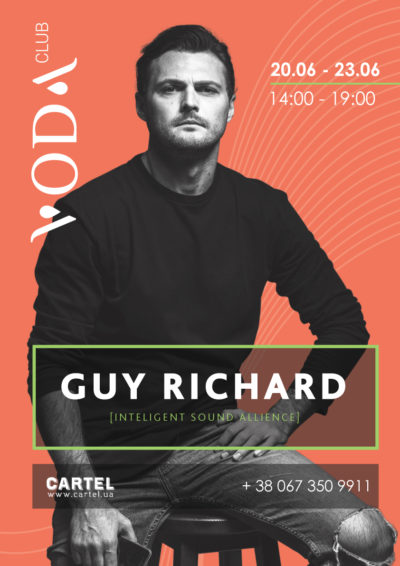 June, 20 - 23 - GUY RICHARD in VODA club!