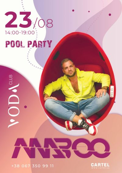 August 23 DJ Maboo on Pool Party in VODA club